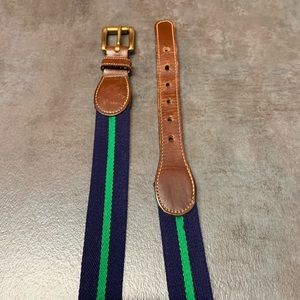 Dooney & Bourke Blue Striped Belt 36